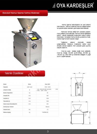 Satılık Sıfır HAMUR KESME TARTMA MAKİNASI Fiyatları  kestar-hamur kesme tartma makinesi,hamur kesme,hamur bölme makinası