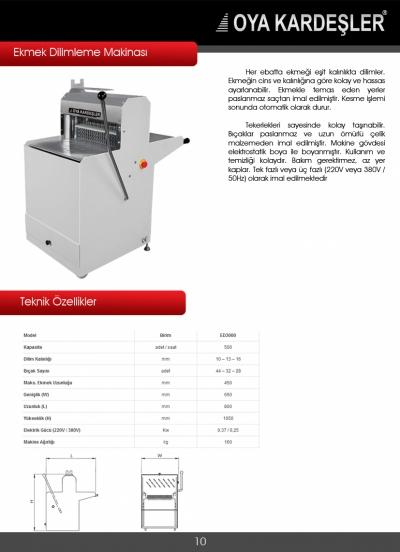 İkinci El Ekmek Dilimleme Makinası  2. El Kesme Makineleri