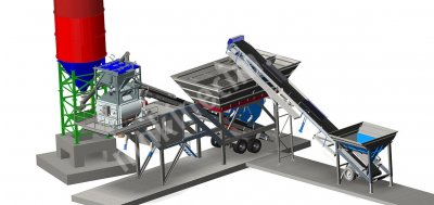 Mobile Concrete Batching Plant 90 M3