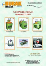 Pvc Pencere Makinaları 6 Adet (Eko Set) 8000 Tl