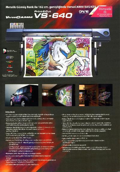 Roland Vs 640 Baskes Metalik Ve Beyaz Baskı Dijital Baskı Digital Baskı