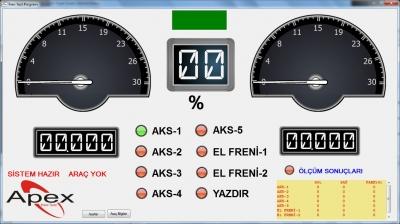 Ağır Vasıta Fren Test Cihazı Apex