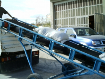 8 Meters Sack Carrying Bag Conveyor Belt