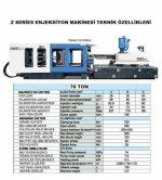 Turkkan Makina 70 Ton-110Ton-140Ton Plastik Enjeksiyon Makineleri
