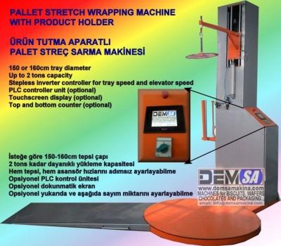 Satılık Sıfır Palet streç sarma makinası (PSS150) Fiyatları Karaman paketleme makinesi,koli bantlama makinesi,palet streç sarma makinesi