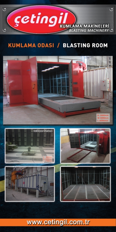 For Sale New BLASTING ROOM MACHINE the blasting room, shot blasting machine