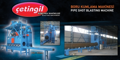 For Sale New PİPE SHOT BLANSTING pipe blasting machine, kumalama machine