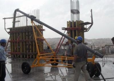 Lastikli Beton Dağıtıcı Kolon Perde Döküm Makinası
