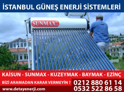 Sunmax Güneş Enerjisi Sistemleri İstanbul 0532 522 86 58