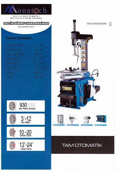 Satılık Sıfır Lastik Sökme Takma Makinası  FULL otomatik Fiyatları Konya lastik sökma,lastik takma,lastik ayırıcı