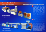 Plastic Pipe And Hose Machines
