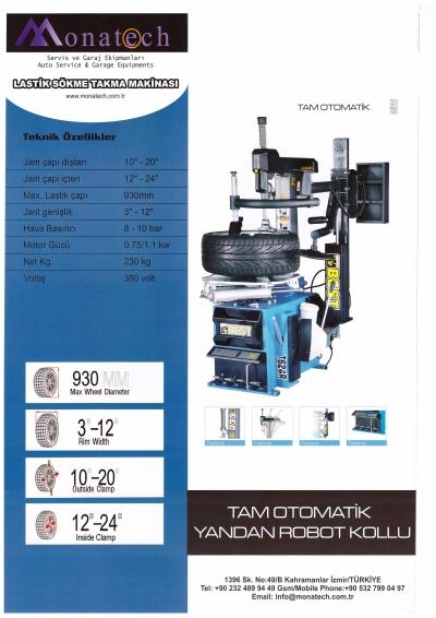 Lastik Sökme Takma Makinası  Full Otomatik Robotlu