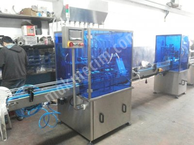 6Lı Automatic Linear Filling Machine And Capping Machine