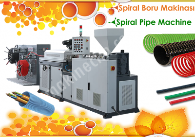 Pvc Spiral Hortum (Boru) Makinalari, Corrugator, Wellpappe, Koruge Boru Makinasi, Pprc Boru