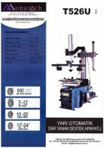 SEMI AUTOMATİC TYRE CHANGER