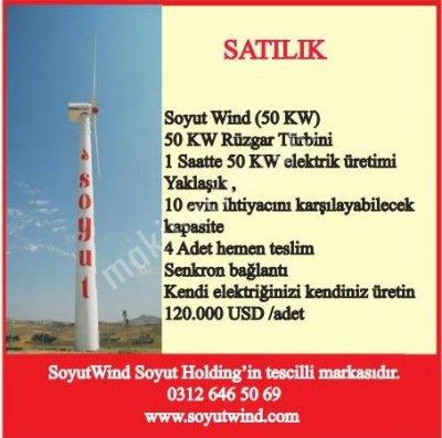 50 Kw Rüzgar Türbini   %100 Yerli   Hemen Teslim