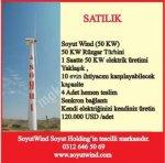 50 Kw Rüzgar Türbini - %100 Yerli - Hemen Teslim