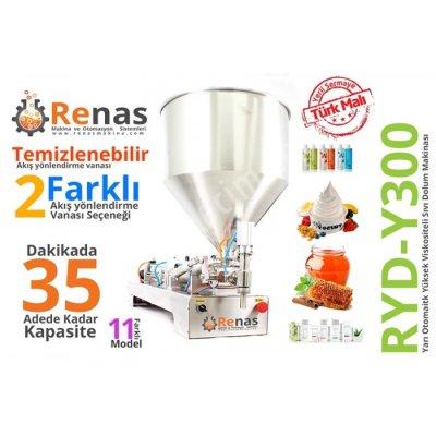 Satılık Sıfır Yoğun Sıvı Dolum Makinası (yarıotomatik) 10-300ml Fiyatları İstanbul sıvı dolum makinası,otomatik sıvı dolum makinası,dölüm,otomasyon,poşet yapıştırma makinaları,paketleme makinaları,renas makina