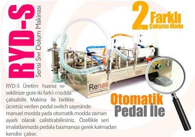 Satılık Sıfır Renas Makina Yarı otomatik çift nozullu sıvı dolum makinası 200-1500ml Fiyatları İstanbul sıvı dolum makinası,otomatik sıvı dolum makinası,dölüm,otomasyon,poşet yapıştırma makinaları,paketleme makinaları,renas makina