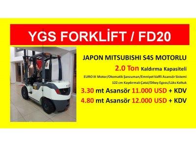 Satılık Sıfır 2.ton Japon Mıtsubıshı Motor Ygs Forklift %1 Kdv 36 Ay Vade Fiyatları İstanbul ygs forklift,ygs makine,beyaz forklift,satılık forklift,kiralık forklift,forklift