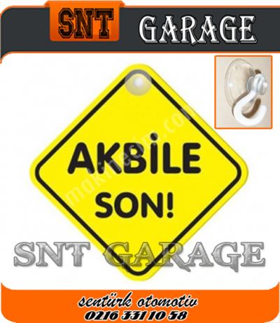 Akbile Son Vantuzlu Pleksi Sticker