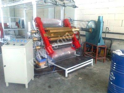 Satılık  2.el oluklu mukavva 145 cm buharlı vakumlu E+B+C dalga makineleri Fiyatları İzmir dalga makinası,buharlı dalga makinesi,vakumlu dalga makinası
