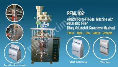 Tam Otomatik Dikey Paketleme Ve Dolum Makinesi:  Volumetrik Dolum Sistemi    Rfml 102