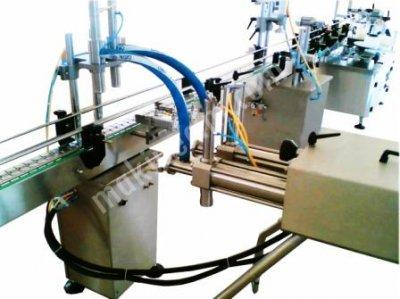 Otomatik Sıvı Dolum Ve Etiketleme Makinesi