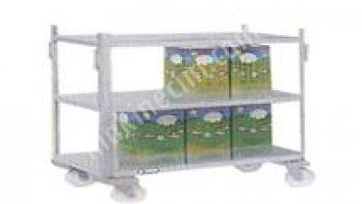 Peynir İşleme Ünitesi Peynir Tenekesi Taşıma Arabası