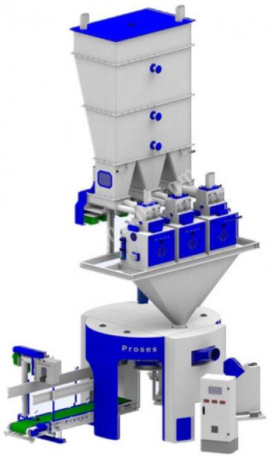 Un Paketleme Makinası 25 - 50 Kg 3 Tartımlı 6 İstasyonlu
