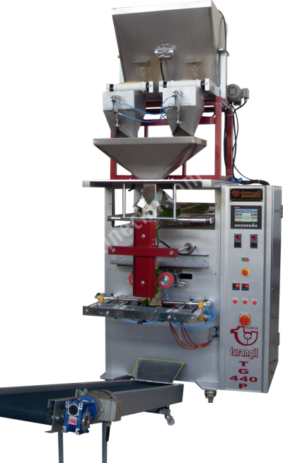 Turangil Tg440P Tam Otomatik 2 Terazili Sistem Granül Ürünler Dikey Paketleme Makinesi