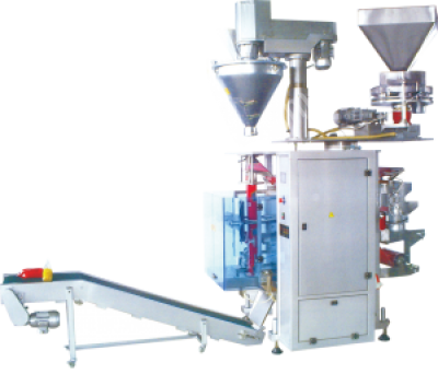 Turangil Tg400P Volimetrik Vidalı Çift Sistem Toz Granül Ürünler Dikey Paketleme Maki..