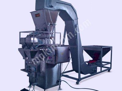 Turangil Tg180D Yarı Otomatik Terazili Sistem Granül Ürünler Dikey Torba Çuval Dolum Makinesi