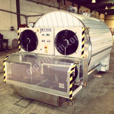 Paslanmaz Süt Soğutma Tankı / 300 5000Lt. Dikey Tip