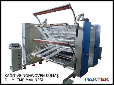 Kağıt Ve Nonwoven Dilimleme Makinesi