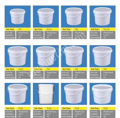 Plastik Boya Yogurt Vb Kova Kaliplari Satilik 2 El Fiyat 60 000