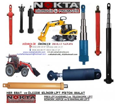 Tarım Makina Liftleri, Beton Makinası Lifti, Beton Makinası Silindiri, Nokta Hidrolik