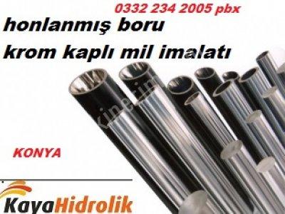 Satılık Sıfır honlanmış boru-krom kaplı mil imalatı  Fiyatları Gaziantep honlanmış boru,HİDROLİK BORU İMALATwww.kayahidrolik.com.tr 1993'den bugüne yılların verdiği sektör tecrübesi, 2010 yılında temelde teknoloji, inovasyon ve müşteri odaklı satış ve servis felsefesiyle Kaya Hidrolik & Pnömatik ismi ile kurulmuştur.  Firmamız