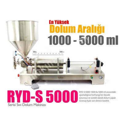 Şaşal Su Dolum Makinası 500-5000Ml (Yarıotomatik)