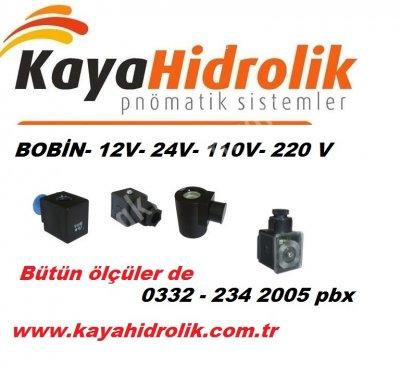 Satılık Sıfır Elektrikli bobin çeşitleri 12v-24v-110v-220v Fiyatları Denizli bobin,kaya hidrolik,konya hidrolik,konya pnömatik,valf bobini,12 volt,24 volt,220 volt