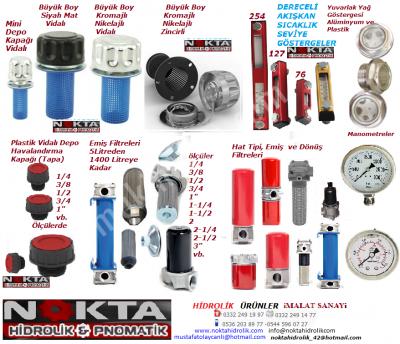 Satılık Sıfır hidrolik depo kapakları, hidrolik filtreler, hidrolik basınç göstergeler Fiyatları Konya hidrolik depo kapakları,hidrolik filtreler,hidrolik basınç göstergeler,hidrolik yağ kapakları,hidrolik sıcaklık göstergeler,dereceli akışkan göstergeler,basınç saatleri,konya filtre imalat