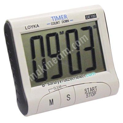 Ge 100 Geniş Ekranlı Dijital Zamanlayıcı Ve Kronometre