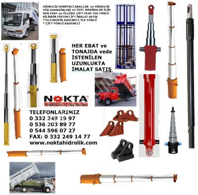 Satılık Sıfır HİDROLİK KASA SİLİNDİRİ İMALAT, HİDROLİK DAMPER POMPASI İMALAT, HİDROLİK DAMPER PİSTONU Fiyatları Konya hidrolik kasa silindiri imalat,hidrolik damper pompası imalat,hidrolik damper pistonu imalat,denizli hidrolik silindir imalat,nokta hidrolik,hidrolik lift satış elazığ,elazığ römork pistonu