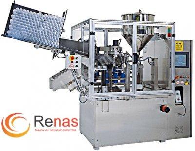 Satılık Sıfır Renas Makina RDGF-40 Otomatik Beslemeli Tüp dolum ve Kapatma Makinası Fiyatları Konya paketleme makinası,ambalaj paketleme,tüp krem dolum,krem dolum makinası,krem dolum,sıvı dolum,renas makina