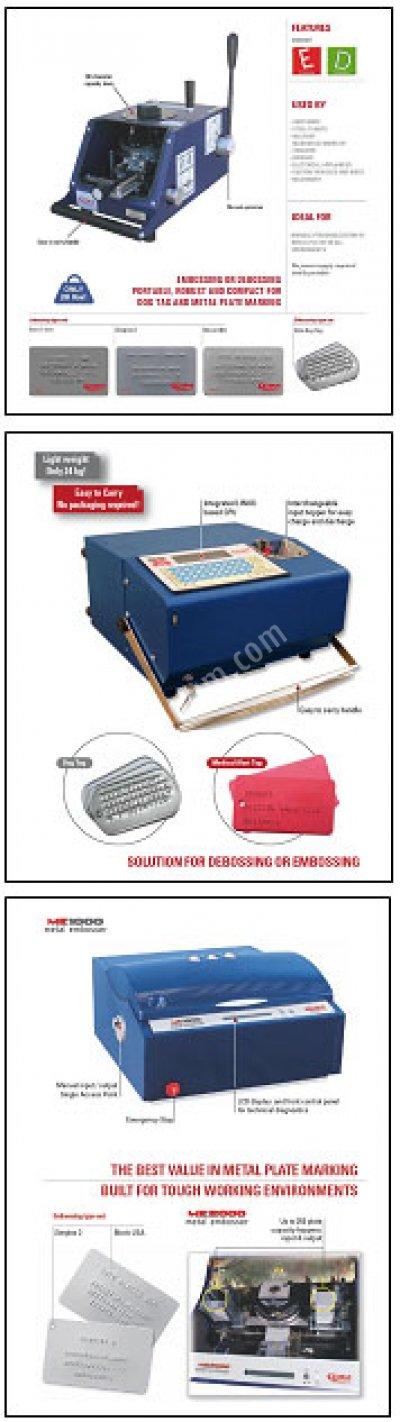 Metal Etiket & Künye (*) Basma Makineleri