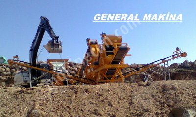 Satılık Taş Maden Kırma Eleme Stoklama Tesisleri General Maki̇na