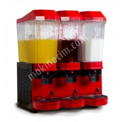 Üçlü Limonata Makinası Şerbet+Şerbet+Ayran 20+20+20 Litre