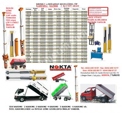 Kademeli Lift Piston Silindir Fiyat, Hidrolik Pompa Piston Silindir Lift Fiyat, 2 Kademe Hidrolik, 5 Kademe Hidrolik İmalat,