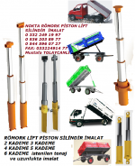 Römork Piston Lift Silindir, Damperli Araç Lift Piston Silindir, Yük Asansör Lift Silindir Pistonlar,