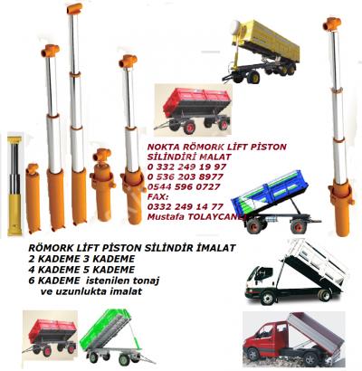 Römork Piston Lift Silindir, Damperli Araç Lift Piston Silindir, Yük Asansör Lift Silindir Pistonlar